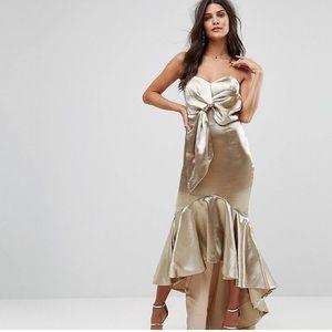 Gold ASOS dress